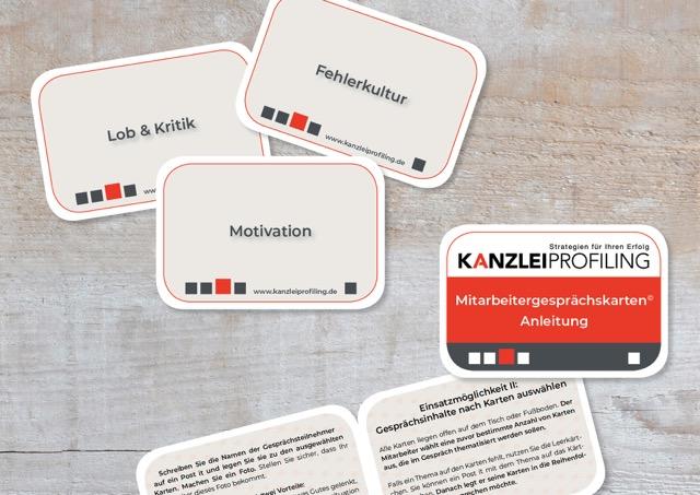 MItarbeitergespräche führen Kanzleiprofliling Mit Kartenset Mitarbeitergesprächskarten Gespräche führen Themen für Mitarbeitergespräche