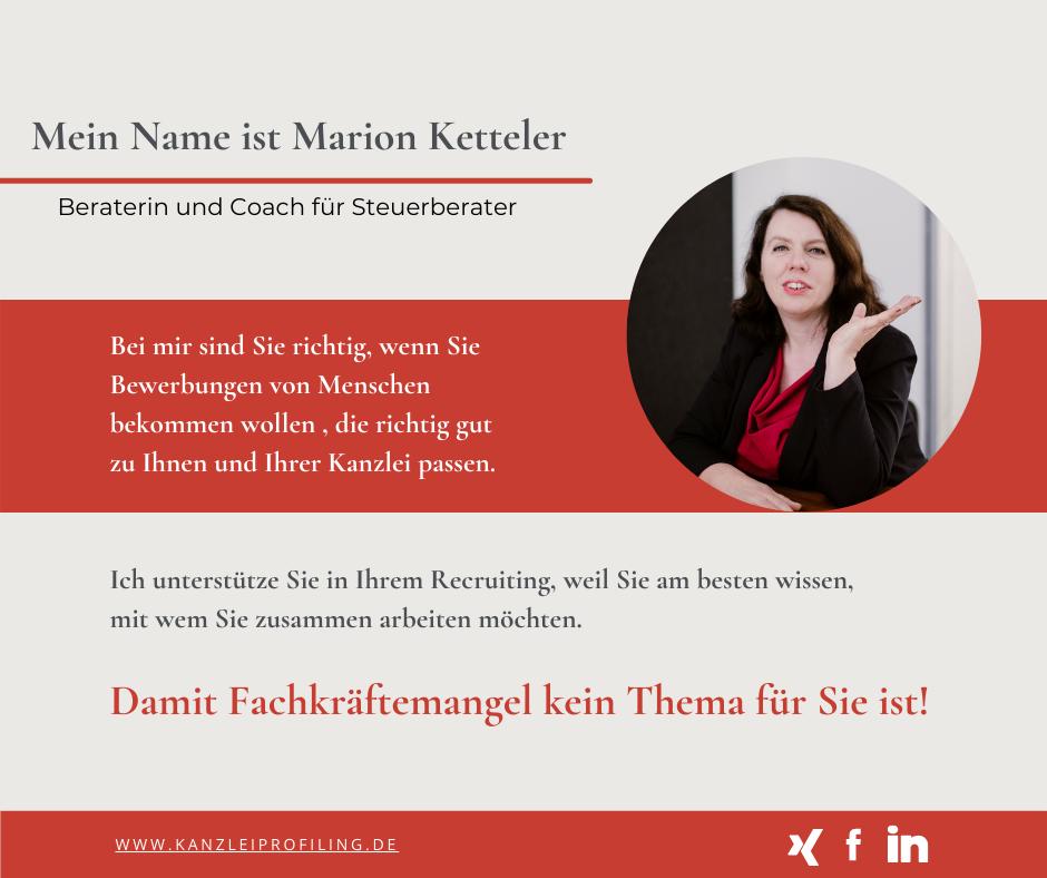 Marion Ketteler Fachkräftemangel Recruiting für Steuerberater