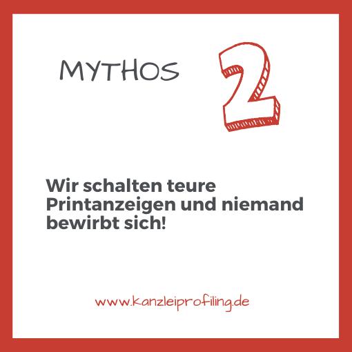 10 Mythen zum Fachkräftemangel in der Steuerberatung Mythos 2 Wir schalten teure Printanzeigen und niemand bewirbt sich