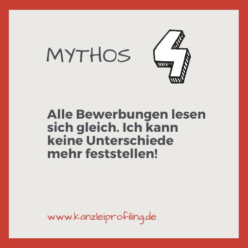 10 Mythen zum Fachkräftemangel in der Steuerberatung Mythos 4: Alle Bewerbungen lesen sich gleich. Ich kann keine Unterschiede mehr feststellen.